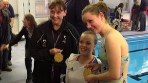 Ellie Simmonds opens Oswestry School swimming pool