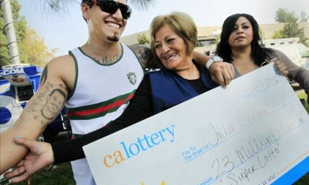 Grandmother living on disability benefit claims $23million lotto prize