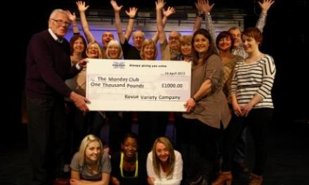 Learning disability charity receives £1,000 from the Revue Variety Company