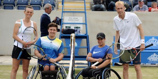 Disability Tennis showcased at Aegon Classic