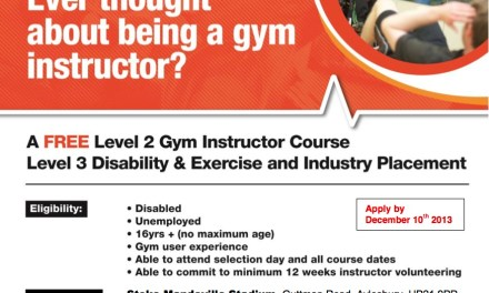 Multi-Award Winning Disabled Fitness Instructor programme at Stoke Mandeville