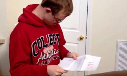 'I got accepted!' Watch the heart-melting moment a Down syndrome student finds out he is going to college