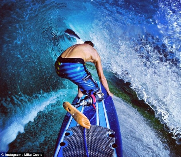 Shark attack survivor who lost leg shows off stunning surfing pictures