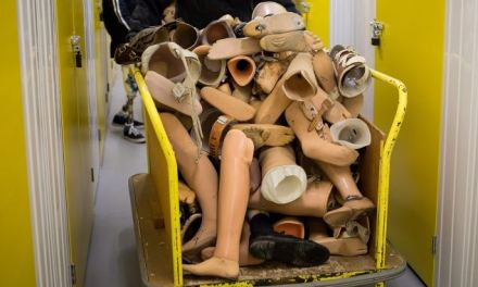 The recycling centre for FALSE LIMBS: Quadruple amputee launches service to helps others in need – and has been given 1,000 limbs so far