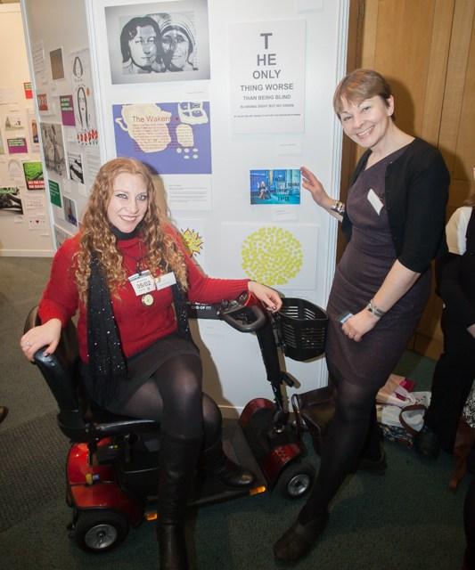 Disabled artists and MPs meet in Parliament for pop-up art exhibition to mark passing of Care Bill