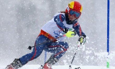 Jade Etherington wins slalom silver