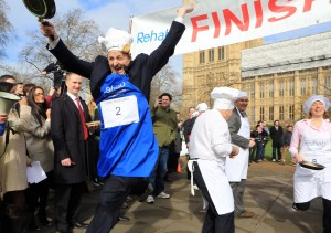 Lords Team Flips to Victory in Incredibly Eggs-citing Last-Minute Scramble at Rehab Parliamentary Pancake Race