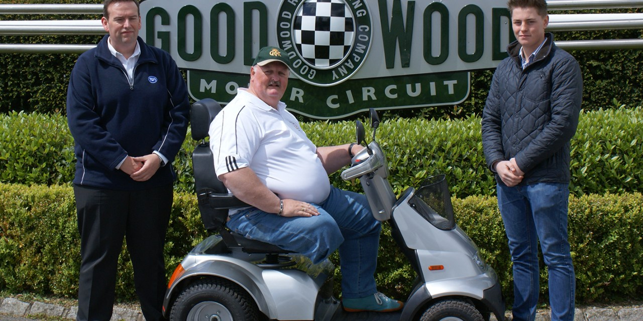 F1 crash survivor Steve to attempt new world record on TGA mobility scooter