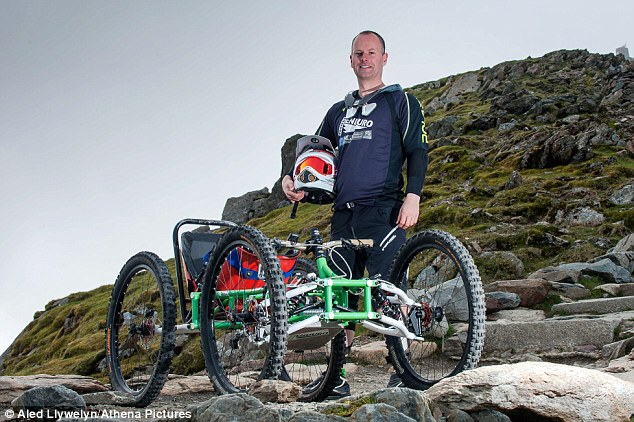 The mountain bike with FOUR wheels: Quadricycle could let disabled people compete in downhill 'gravity biking' races