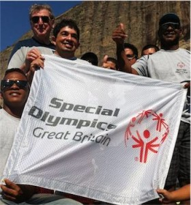 England manager Roy Hodgson with Brazilian Special Olympics athletes