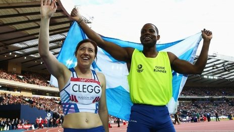 Libby Clegg wins sprint gold for Scotland