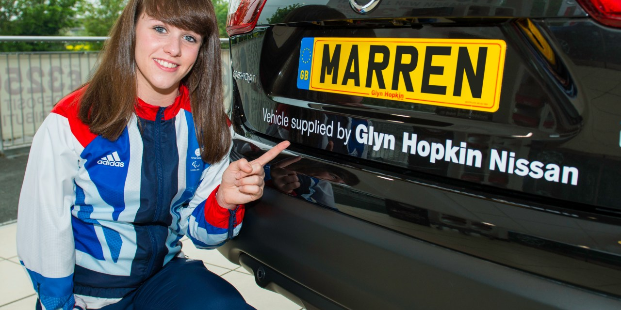 PARALYMPIC SWIMMING STAR RECEIVES NISSAN BOOST