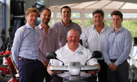 TGA presents mobility scooter to world record breaker Steve Tarrant