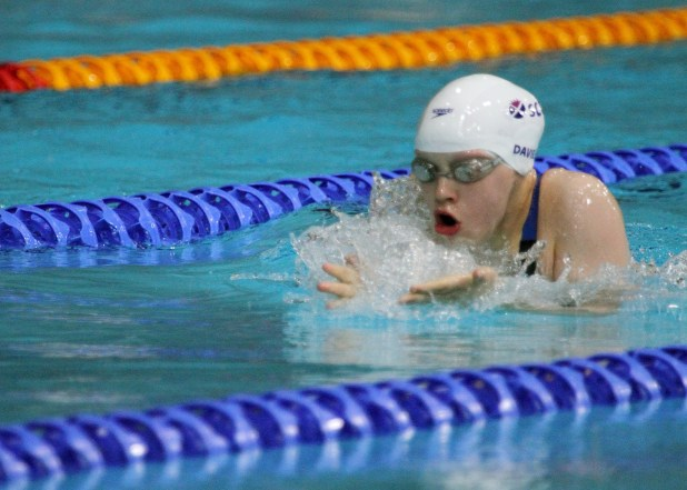 Erraid Davies, the Scottish 13 year old who swam her way to a bronze medal © Peter Rimmer