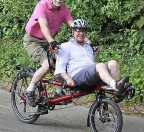 Couple's tandem cycle ride across the Isle of Wight for Parkinson's disease