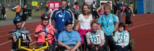 Gloucestershire House Tri Together London 2014 hero Robert James, Rina Asumets, Adam Collings, Paul Shipski ,Nicky Reed , Mary Hayward, Joe Davies and Claire Judge
