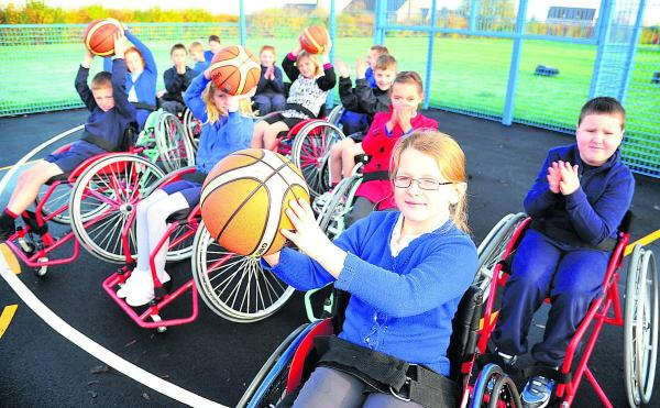 Pupils pitch in with disability challenge