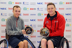 Burdekin, Lapthorne and Shuker, Whiley win Nottingham Indoor titles as Alcott wins quad singles