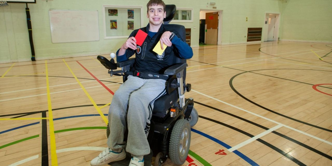 Nathan overcomes cerebral palsy to become Britain's first wheelchair referee