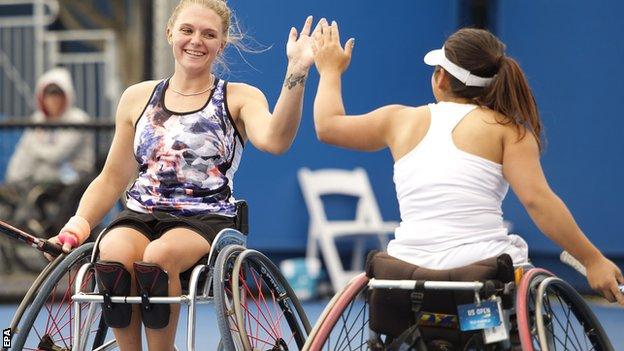 Australian Open: Jordanne Whiley wins doubles title