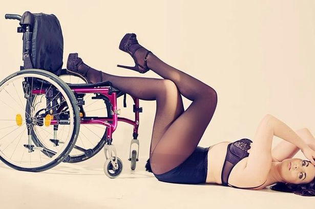 Disabled model makes catwalk debut in her wheelchair