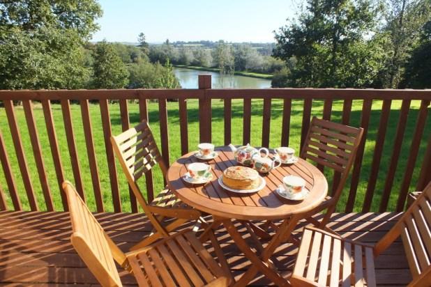 5 Lodge balcony overlooking lake