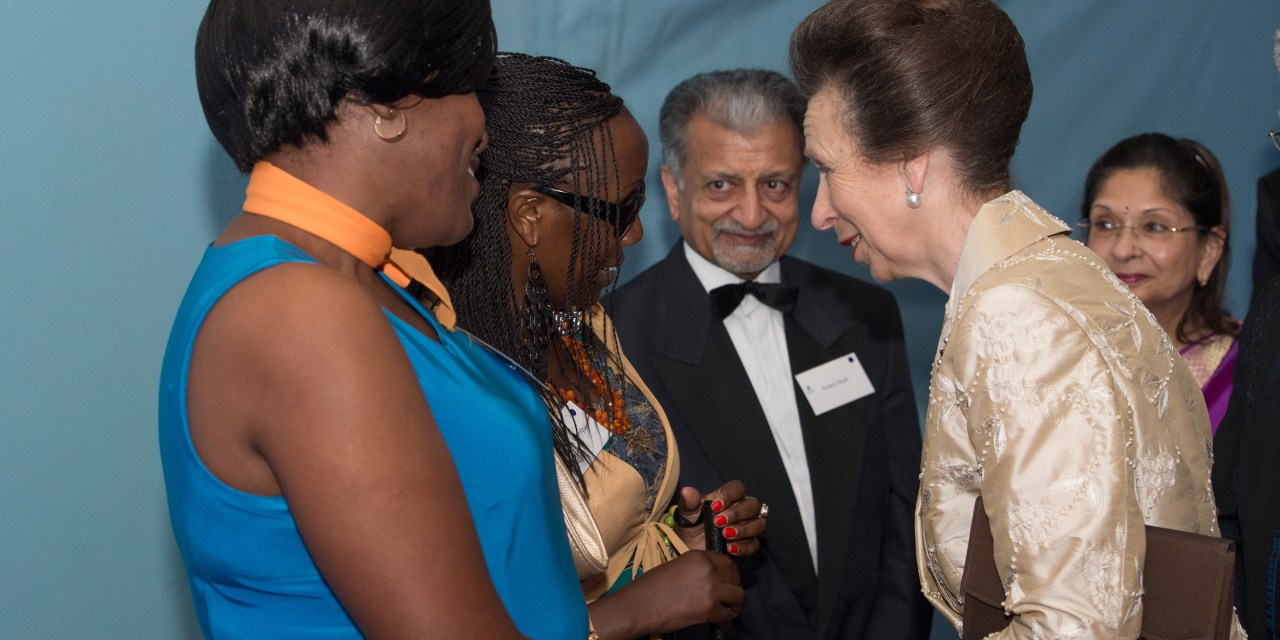 HRH The Princess Royal, attends charity ball to raise money for deafblind children in Kenya and Uganda