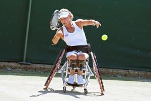 Lucy Shuker at Wimbledon 2015 (Copyright Tennis Foundation)
