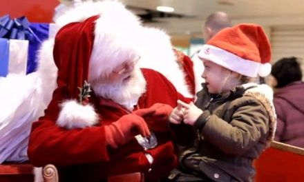 Santa Signing to Child