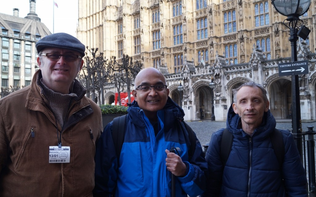 Deafblind activists join over 100 other disabled people at 'mass lobby' to meet with MPs