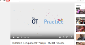 Capture of Children Occupational Therapy video by The OT Practice