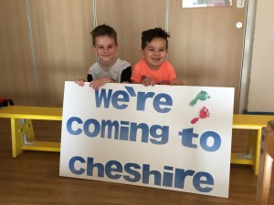 More children from Cheshire, like Oscar and Aash above, will be able to access services from Stick 'n' Step closer to home.