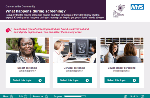 FREE: The elearning helps community workers broaden their knowledge on cancer screening, treatment and aftercare