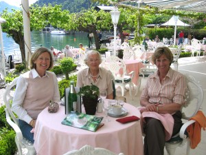Margaret with daughters Jacqueline (right) and Susan (left) on a trip to Austria in 2005