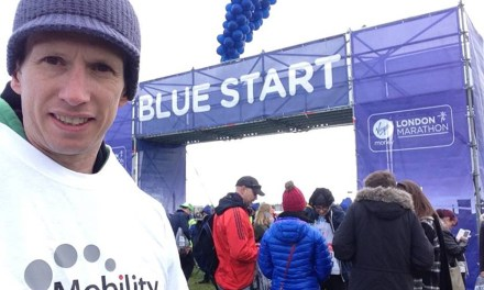 London Marathon competitor achieves personal best fundraising for Mobility Choice and Scope