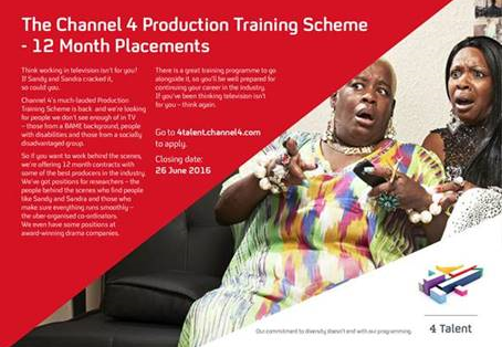 Channel 4's Production Training Scheme is open for applications!