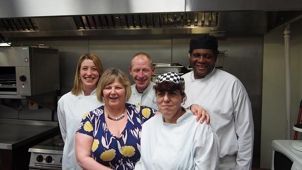 Action for blind people Concept Birmingham team leader retires