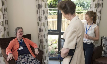 HRH visits new specialist dementia service for people with learning disabilities