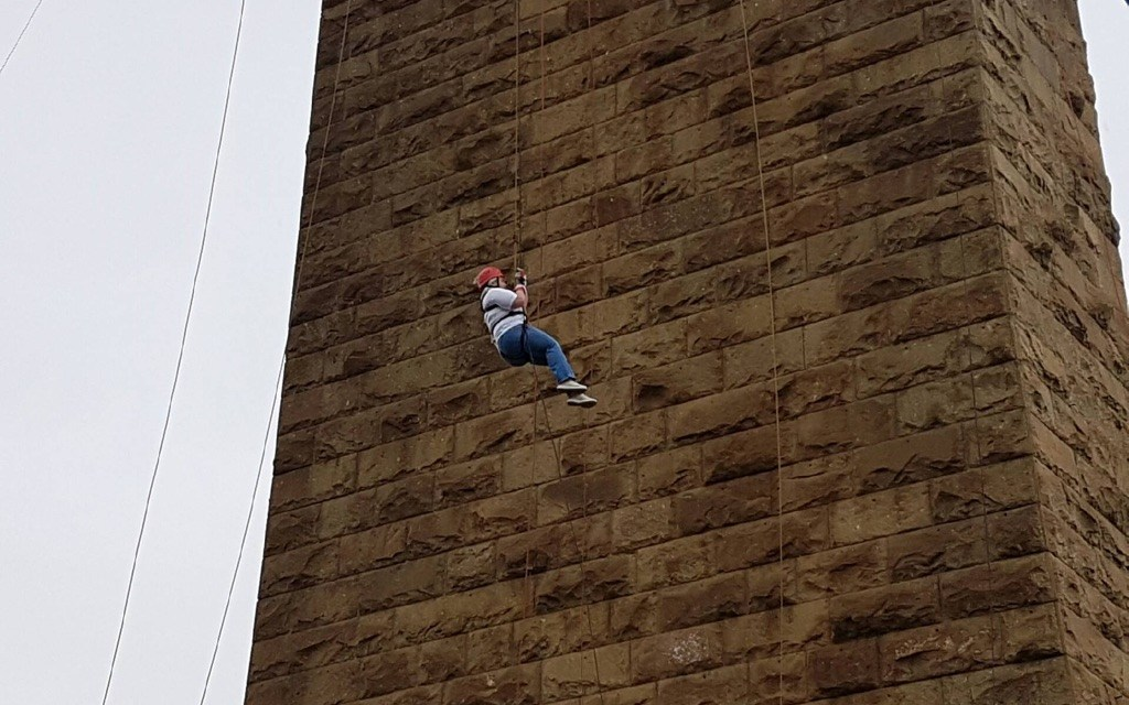 Care home Staff dare the drop for charity