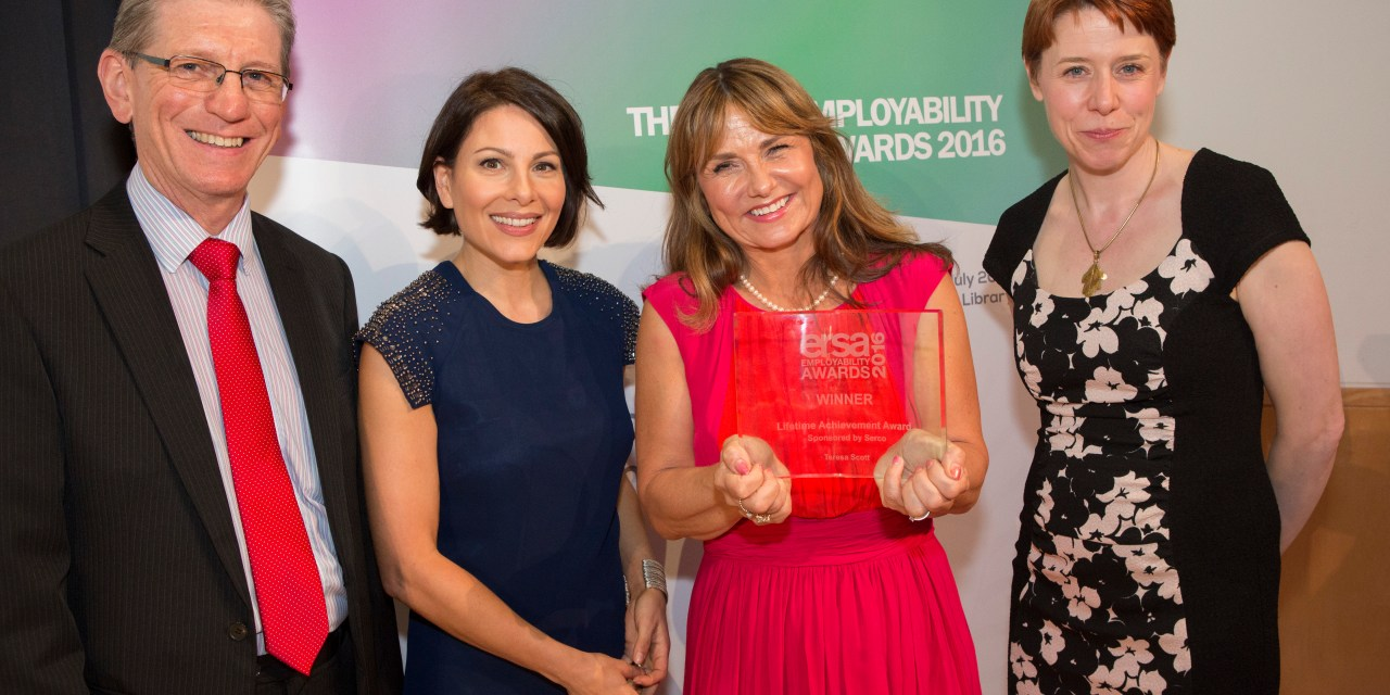 Teresa Scott Receives Lifetime Achievement Award for Employability Services