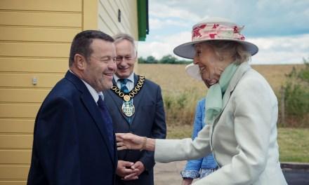 HRH Princess Alexandra visits Flat Spaces Foundation
