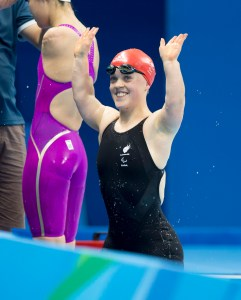 20160912 Copyright onEdition 2016© Free for editorial use image, please credit: onEdition Swimmer Ellie Simmonds OBE, 200m Individual Medley SM6 - Women,  from Aldridge, Preston, wins gold for ParalympicsGB at the Rio Paralympic Games 2016. ParalympicsGB is the name for the Great Britain and Northern Ireland Paralympic Team that competes at the summer and winter Paralympic Games. The Team is selected and managed by the British Paralympic Association, in conjunction with the national governing bodies, and is made up of the best sportsmen and women who compete in the 22 summer and 4 winter sports on the Paralympic Programme. For additional Images please visit: http://www.w-w-i.com/paralympicsgb_2016/ For more information please contact the press office via press@paralympics.org.uk or on +44 (0) 7717 587 055 If you require a higher resolution image or you have any other onEdition photographic enquiries, please contact onEdition on 0845 900 2 900 or email info@onEdition.com This image is copyright onEdition 2016©. This image has been supplied by onEdition and must be credited onEdition. The author is asserting his full Moral rights in relation to the publication of this image. Rights for onward transmission of any image or file is not granted or implied. Changing or deleting Copyright information is illegal as specified in the Copyright, Design and Patents Act 1988. If you are in any way unsure of your right to publish this image please contact onEdition on 0845 900 2 900 or email info@onEdition.com