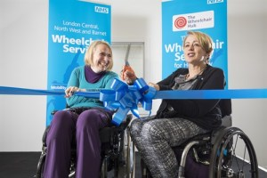 Alex Cowan and Baroness Tanni Grey-Thompson Cut Ribbon of new Wheelchair Services