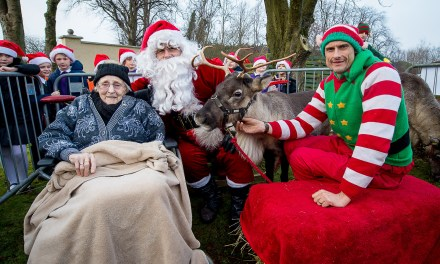 Reining in Christmas early at Glasgow Care Ho-Ho-Home