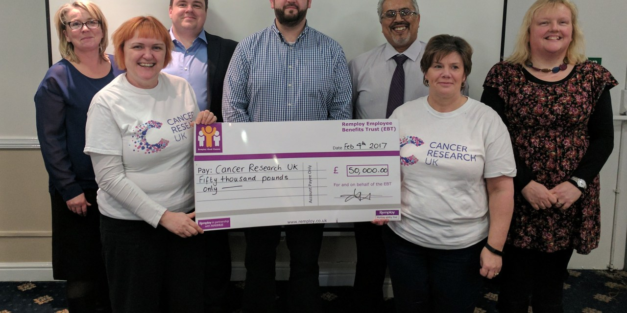 Remploy workforce donate £50,000 to help beat cancer sooner