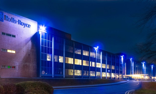 Rolls-Royce Derby Light It Blue for Autism East Midlands in support of Autism Awareness Week 2017