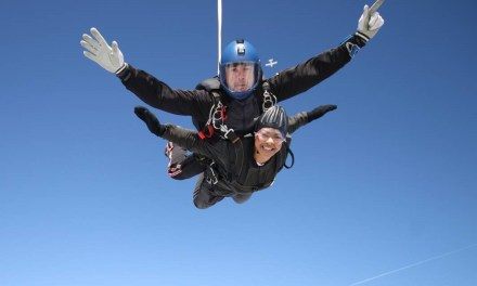 Adrenaline junkie takes to the skies to raise money for children's hospice