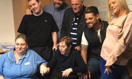 Boyzlife make care home resident's dreams come true