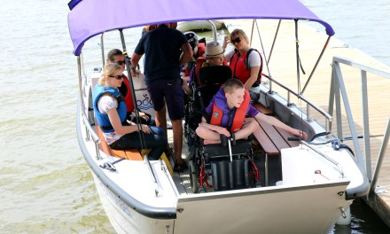 Students at St Piers School and College benefit from a new wheelchair accessible boat