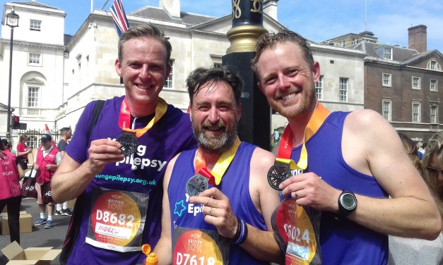 Bob and Jon representing Abacus Healthcare raise over £800 for Young Epilepsy
